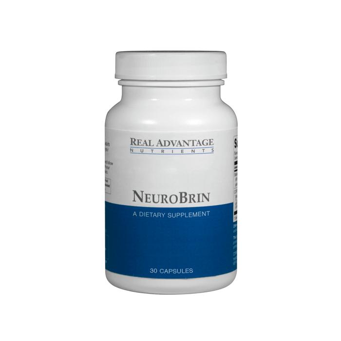 NeuroBrin bottle with 100% satisfaction guarantee logo