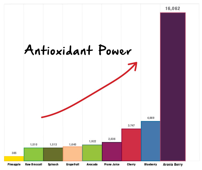graph showing antioxidant power