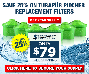 Save 25% on Turapür Pitcher Replacement Filters